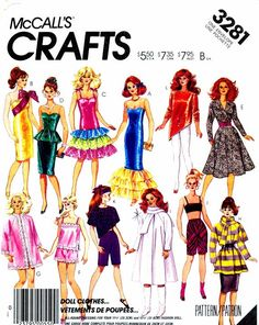 Doll Clothes Pattern Fits Barbie McCalls 3281 by patternshop, $14.99