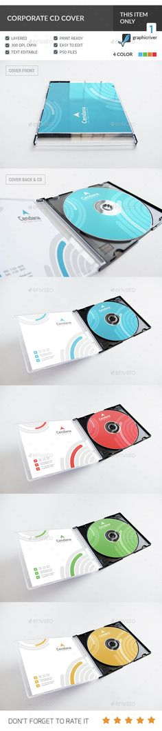 corporate cd/dvd cover | presentation, Presentation templates