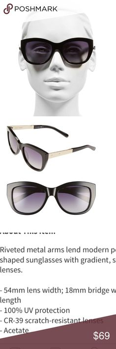 Bobbi Brown Grace Sunglasses Year/round use sunglasses. Love this designer. Simple lines. Flattering to most faces. FALL SEASON HOT TRENDS: 🍁🍂 Velvet, embroidery and metallic. Add a bit to an outfit to set yourself apart and shine✨Expected 10/3. No trades. 5 lb bundle limit. Bobbi Brown Accessories Sunglasses