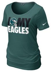 Philadelphia Eagles Women's Nike Green Team Dedication Tri-Blend