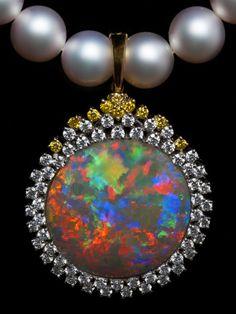 Opal Brooch / Pendant AT176 #OpalPendant
