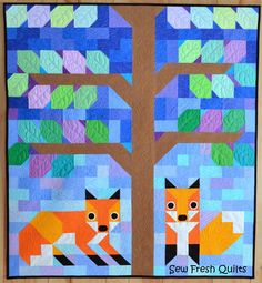 Kona Fox Kits Quilt Pattern by Lorna of Sew Fresh Quilts https://payhip.com/SewFreshQuilts pattern sale!
