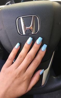 """""""Blue Island, IL"""" by DND gel nail polish. This is the perfect baby blue for summer☀️ Instagram: @trina_nguyen"""