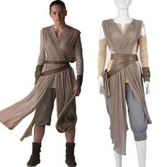 Diy rey halloween costume star wars hair tutorial pinterest top grade star wars the force awakens rey cosplay costume full set solutioingenieria Choice Image