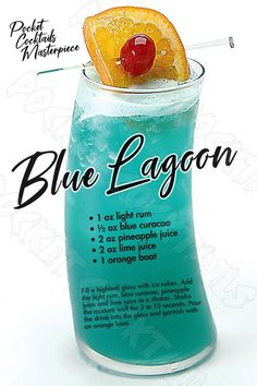 Blue Drinks, Beach Drinks, Summer Drinks, Blue Alcoholic Drinks, Blue Curacao Drinks, Alcholic Drinks, Spring Cocktails, Easy Cocktails, Mixed Drinks Alcohol