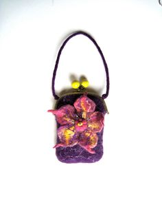 Wet Felted Iphone Case glass case or coin purse  by tatianaflor, $59.99