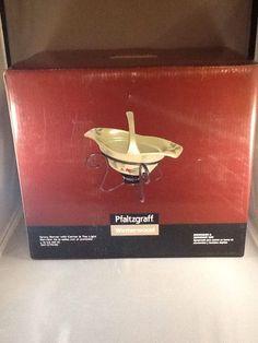 Excellent Pfaltgraff Winterwood NIB Gravy Server W/ Carrier & Tea Light #Pfaltzgraff