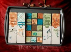 cookie sheet calendar part 2 by http://thenshemade.blogspot.com/search?q=cookie+sheet+calendar+part+2