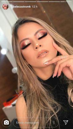 glam makeup – Hair and beauty tips, tricks and tutorials Formal Makeup, Prom Makeup, Bridal Makeup, Wedding Makeup, Hair Makeup, Dance Makeup, Makeup Inspo, Makeup Inspiration, Silvester Make Up