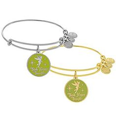 Tinker Bell Bangle by Alex and Ani | Disney Store Tinker Bell reminds you to ''Think Happy Thoughts'' with this shimmering bangle by Alex and Ani. Available in gold and silver finishes, this fully adjustable metal bracelet will lift your heart to the stars.