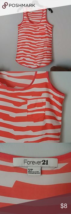 FOREVER 21 Striped Tank Excellent used condition!! Forever 21 Tops Tank Tops