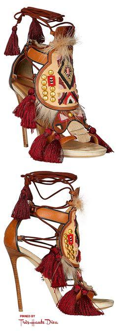 ♔Très Haute Diva♔ Dsquared2 Fall2015 Eskimo Chic Sandals in Brown