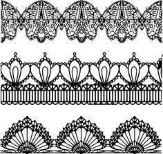 zzille :: [EPS] 레이스 패턴 일러스트