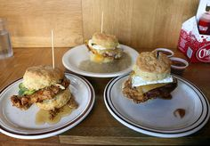 Biscuit sandwiches from Pine State Biscuits in Portland, Oregon.