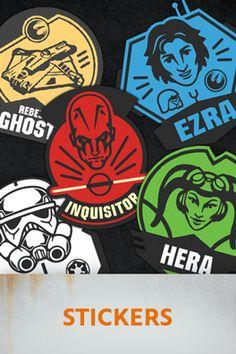 Star Wars Rebels printable stickers.