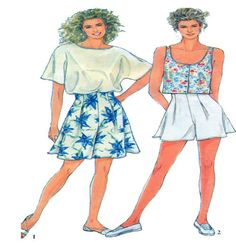 Womens Summer Separates Sewing Pattern by FindCraftyPatterns, $8.00
