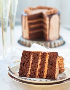 Chocolate cake with salted caramel buttercream