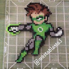 Green Lantern perler beads by  mastablasta3