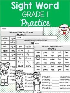 #tpt #tptpins #grade1 #sight #word #dolch #practice #elementary