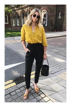Yellow Outfit Ideas Pictures outfit with casual outfits with yellow shirts chicisimo Yellow Outfit Ideas. Here is Yellow Outfit Ideas Pictures for you. Yellow Outfit Ideas 36 trendy yellow outfits ideas to brighten up your day. Business Casual Outfits, Trendy Outfits, Fashion Outfits, Chic Outfits, Dress Fashion, Summer Work Outfits, Spring Outfits, Summer Ootd, Late Summer