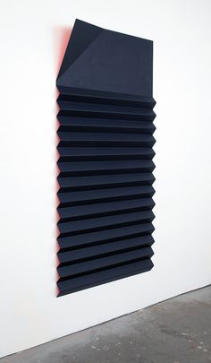 """ Lisa Williamson Red and Blue Bed Shade, 2012 acrylic on powder-coated aluminum, 75 x 36 x 8 inches "" Claude Monet, Abstract Sculpture, Sculpture Art, Frieze Art Fair, Art Object, Minimalist Art, Conceptual Art, Wall Sculptures, Installation Art"