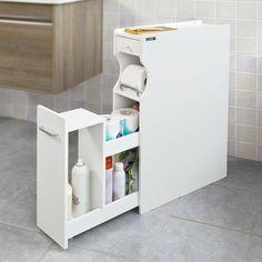Badezimmer Ideen Schmaler Bad Schrank mit Schublade