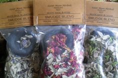 Smudge Loose Incense Blends White Sage by SisterMoonHerbals Cedar Smudge, Burning Incense, White Sage Smudge, Lavender Roses, Smudging, Really Cool Stuff, The Balm, Herbalism, Blessed