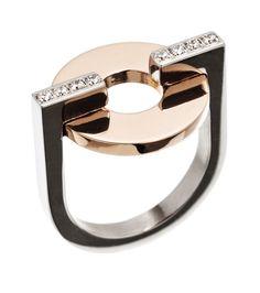 Rondo ring rose gold/steel   Edblad