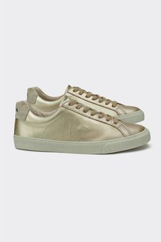 Jil Sander White Glitter Love Patch Sneakers