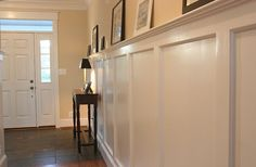 Tall wainscoting for entryway