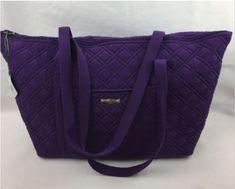 d5a5afcf6279 New VERA BRADLEY Microfiber Elderberry Purple Miller Bag Tote Baby Retired  NWT All Things Purple
