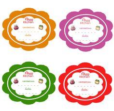 etichette colorate per le conserve