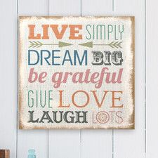 Love Simply Typography Burlap Wall Decor