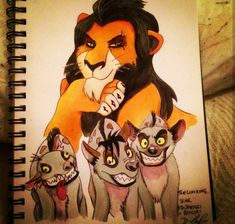A bit of Disney art. The Lion king. Disney Pencil Drawings, Disney Sketches, Cartoon Drawings, Art Drawings, Disney Villains Art, Disney Art, Dior Purses, Lion King Drawings, Photo To Cartoon