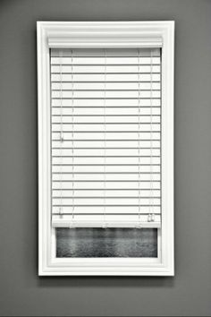 2 Snow White Faux Wood Window Blind Custom Width X 64 L