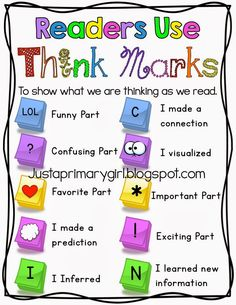 Hi friends! I wanted to share my readers use thinkmarks poster today. This is something my students really enjoy doing during guided reading...