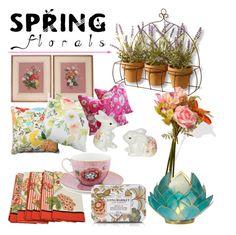 """Spring bloom 🌸 #springfloral #contest #polyvore #polyvoreid #editorial #homedecor"" by vikapranika on Polyvore featuring interior, interiors, interior design, home, home decor, interior decorating, Pillow Perfect, National Tree Company, PiP Studio and David Jones"