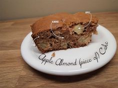 Apple almond cake Apple And Almond Cake, Almond Cakes, Almond Recipes, Gluten Free Recipes, Small Tins, Cake Pans, The Dish, Baking Soda, Meals