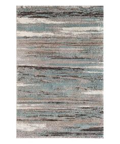 Loving this Gray & Teal Blurred Rug on #zulily! #zulilyfinds