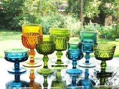 Indiana Glass, I love the mix they could make a beautiful table.