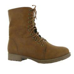 zapato botín cuero con cordones en napa/borrego