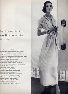 --- and some Grandma didn't wear.  Here is a House Dress that made the cover of Vogue in 1955  ~constance