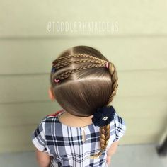 These hairstyles represent fairly simple as well as are a great option for novices, fast and simple toddler hair-styles. Little Girl Hairdos, Girls Hairdos, Lil Girl Hairstyles, Princess Hairstyles, Pretty Hairstyles, Braided Hairstyles, Toddler Hair, Toddler Girls, Creative Hairstyles