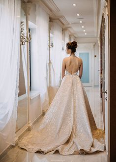 """A """"Diamond"""" by Miriams Bride Beaded Wedding Gowns, Silk Crepe, Lace Back, Wedding Shoes, Bridal Dresses, Prom, Couture, Bride, Trending Outfits"""