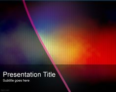 Stylish theme great for office presentations. Fppt.com provides free powerpoint templates and many designs to choose from.