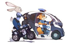 Another Zootopia fanart by Yoh Yoshinari (director and character-designer of…
