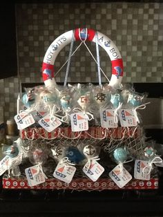 Ahoy it's a Boy Baby Shower Cake Pops