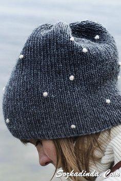 An adult knit beanie Lumipallo (Snowball) from yarn Novita 7 Veljestä Novita knits Knit Beanie, Beanie Hats, Beanies, Snapback Hats, Knit Crochet, Crochet Hats, How To Purl Knit, Knitting Accessories, Knitting Projects