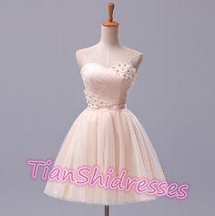 Sleeveless short prom dress short ball gowns by TianShiDresses, $97.00