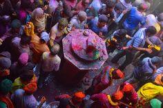 Holi Banke Bihari Temple Vrindavan